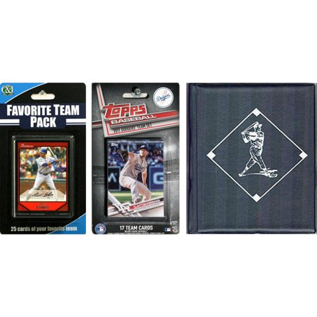 Sports Prayer Card - C & I Collectables MLB Los Angeles Dodgers Licensed 2017 Topps Team Set and Favorite Player Trading Cards Plus Storage Album