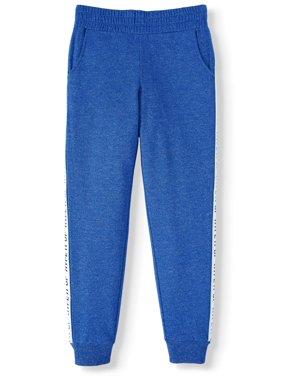 Athletic Works Side-Taped Fleece Active Jogger Sweatpants (Little Girls, Big Girls & Plus)