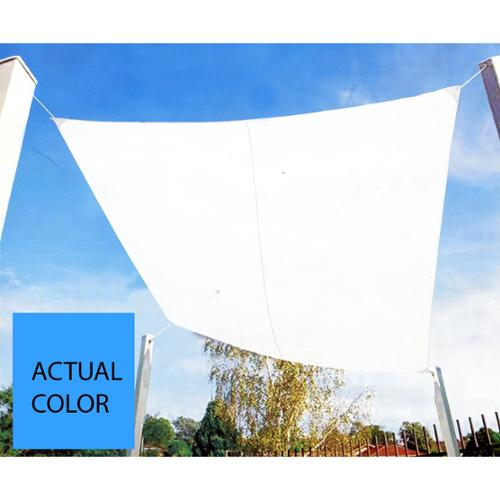9.75' Bright Sky Blue Square Outdoor Patio Sun Shade Tarp