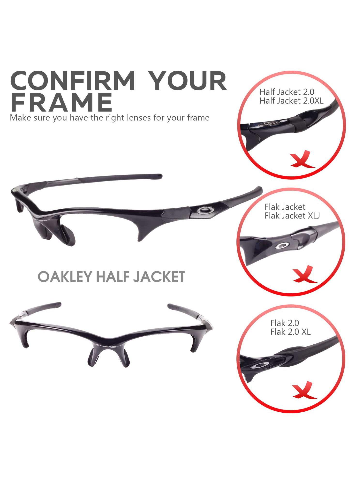 a9eac9ef4e9 Walleva - Walleva Fire Red Polarized Replacement Lenses for Oakley Half  Jacket Sunglasses - Walmart.com