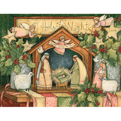 """Lang """"Good Will to All"""" Boxed Christmas Cards"""