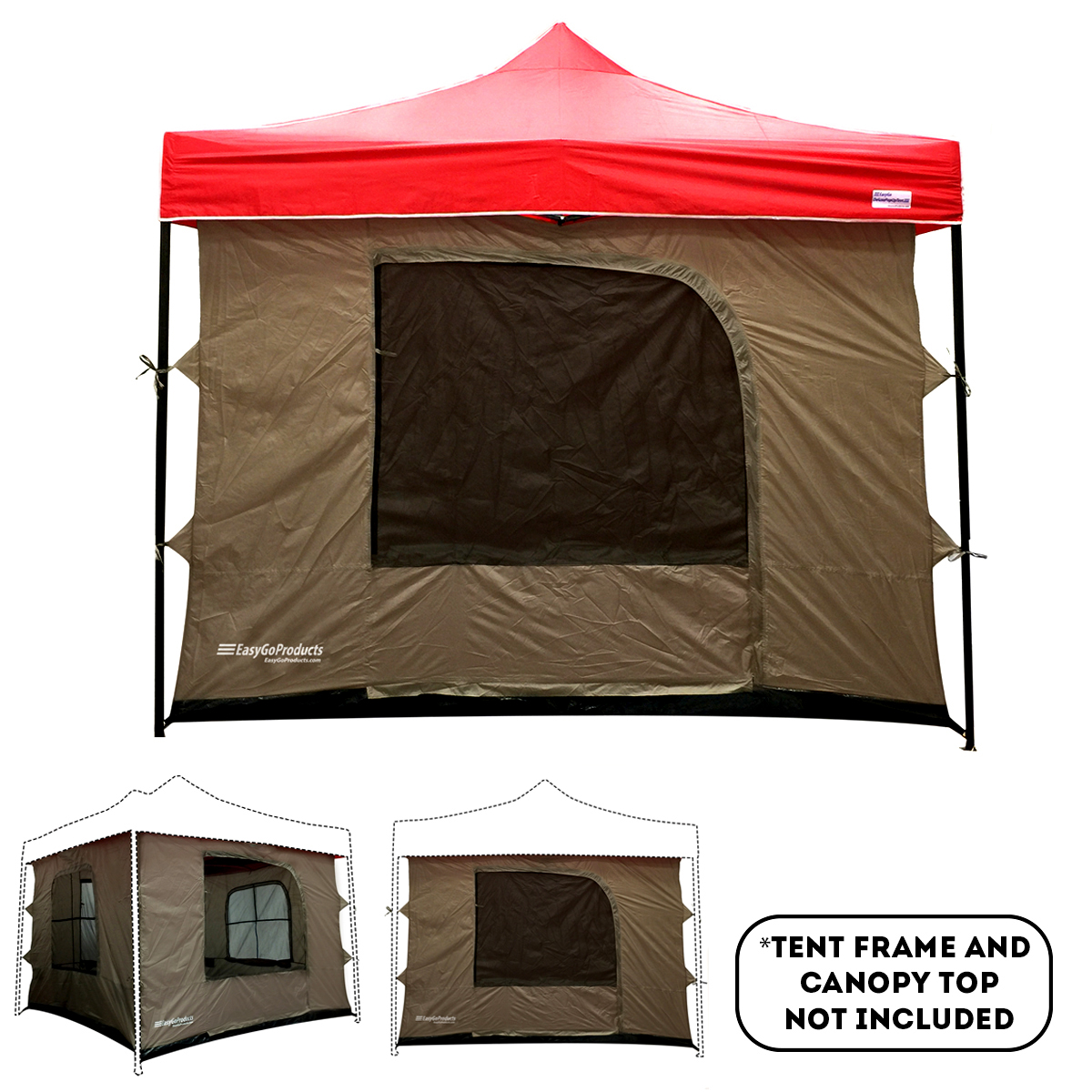 C&ing Tent attaches to any 10u0027x10u0027 Easy Up Pop Up Canopy Tent w/4 Walls Mesh Ceiling PVC Floor 2 Doorsu0026 4 Windows - Walmart.com  sc 1 st  Walmart & Camping Tent attaches to any 10u0027x10u0027 Easy Up Pop Up Canopy Tent w ...
