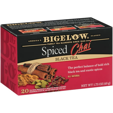 (3 Boxes) Bigelow, Spiced Chai, Tea Bags, 20 Ct