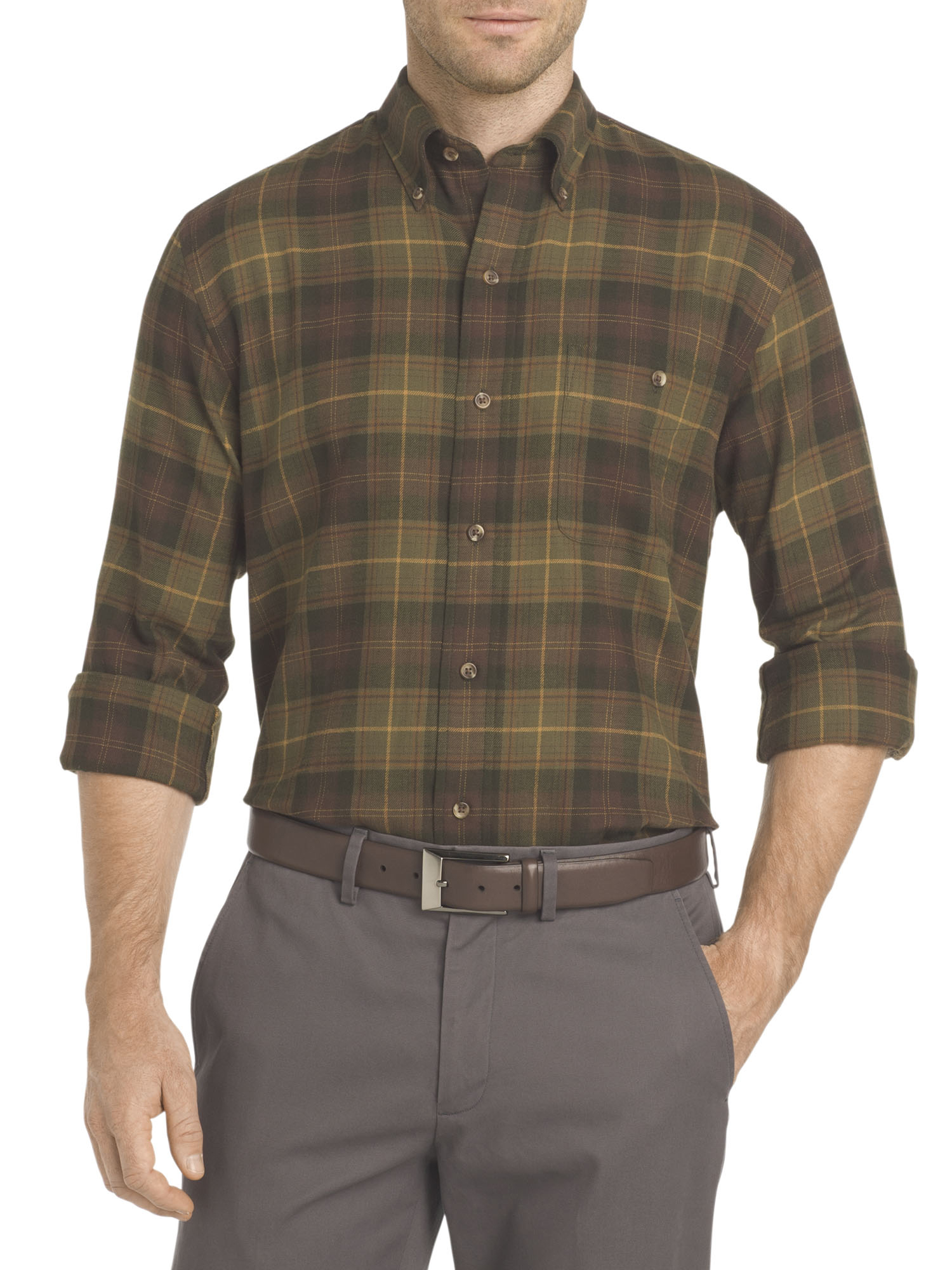 Solid Arrow Mens Heritage Regular-Fit Twill Button Down Shirt Rosin, Large