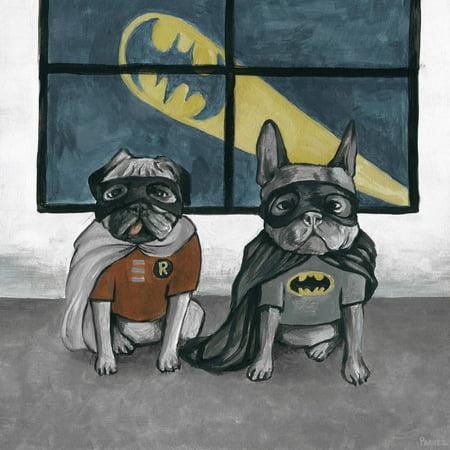 Parvez Taj Superhero Bulldogs Canvas Wall Art