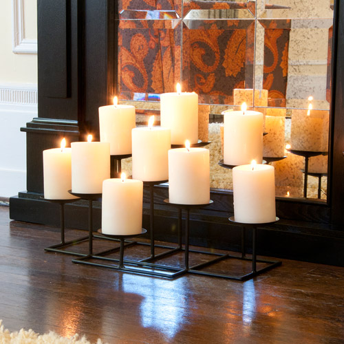 Southern Enterprises Galiana 9-Candle Candelabra, Black