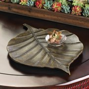 zingz and thingz avery leaf decorative tray - Decorative Tray