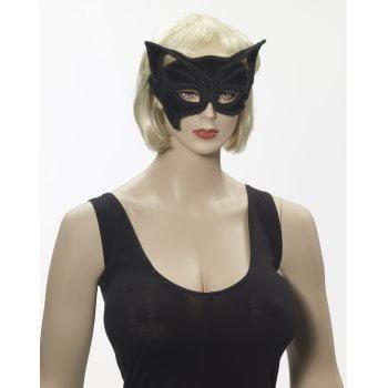 BLACK CAT HALF MASK ON GLASSES](Kids Cat Mask)