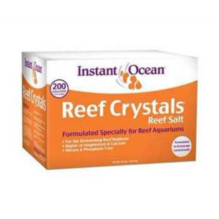 Instant Ocean Reef Crystals Aquarium Sea Salt for Reef Saltwater Aquariums, 200 (Instant Ocean Bio Spira For Saltwater Tanks)