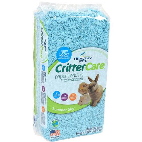 Critter Care Colors Small Pet Bedding - Blue 10L