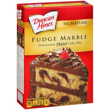 Duncan Hines Signature Fudge Marble Cake Mix 16 5 Oz Box