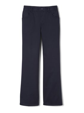 French Toast Girls School Uniform Pull-On Twill Bootcut Pants, Sizes 4-20 & Plus