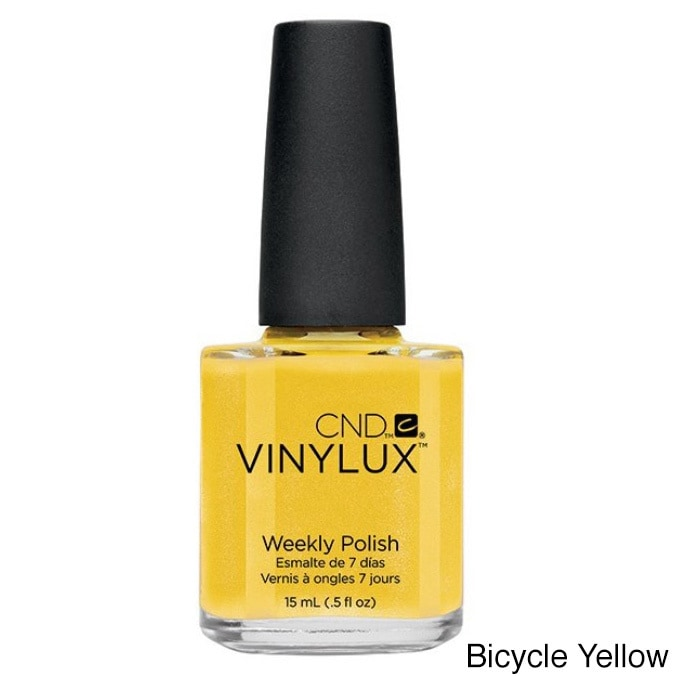 CND Vinylux Weekly Polish, # 104 Bicycle Yellow, 0.5 oz