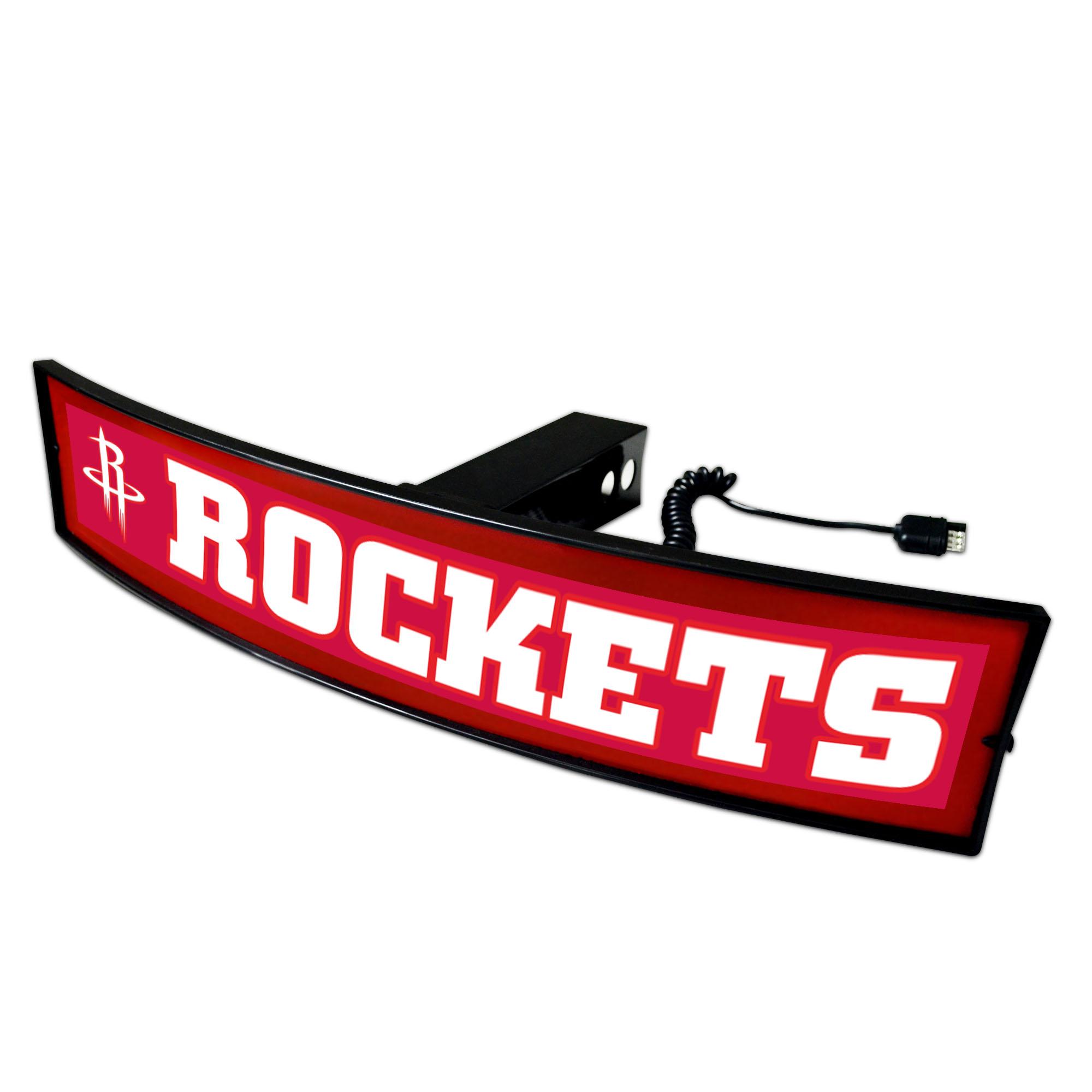 "NBA - Houston Rockets Light Up Hitch Cover - 21""x9.5"""