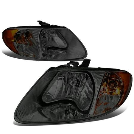 For 2001 to 2007 Dodge Grand Caravan / Chrysler Town & Country Headlight Smoked Housing Amber Corner Headlamp 02 03 04 05 06 Left+Right