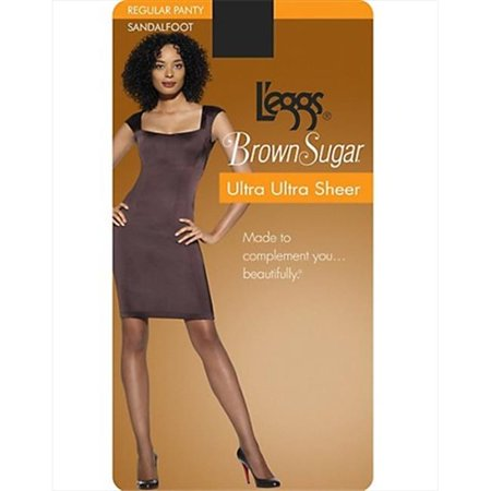 73908 Brown Sugar Ultra Sheer Pantyhose, 1-Pack Extra Large Honey Brown Skintone
