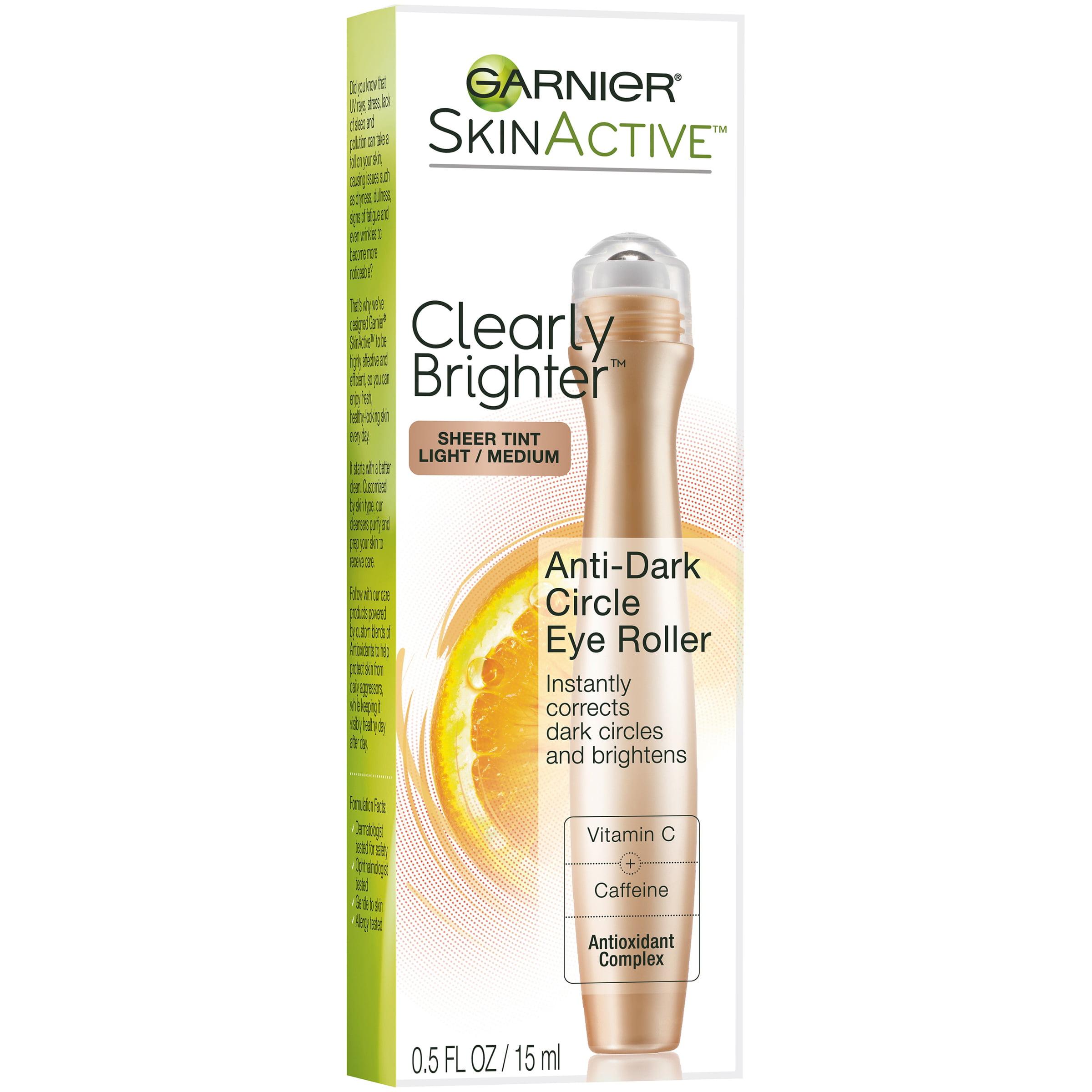Garnier SkinActive Clearly Brighter Sheer Tint Light/Medium Anti-Dark Circle Eye Roller 0.5 fl. oz. Box