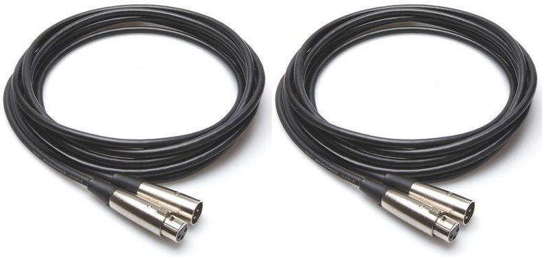 2 Hosa MCL-103 3'FT XLR Female To Male 3 Pin Mic Cables by Hosa