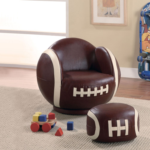 Alcott Hill Tiemann Football Kids Novelty Chair and Ottoman by Coaster of America