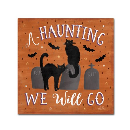 Trademark Fine Art 'Haunted Halloween V' Canvas Art by Laura Marshall - Laura Halloween