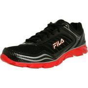Fila Men's Memory Fresh 2 Black/Fila Red/Metallic Silver Ankle-High Running Shoe - 11M