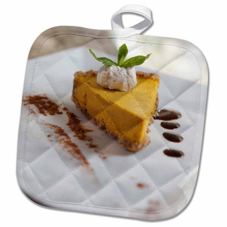 3dRose Pumpkin Cheesecake dessert - US10 GJO0632 - Greg Johnston - Pot Holder, 8 by 8-inch