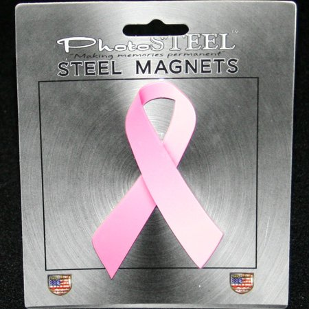 - Pink Ribbon Breast Cancer Awareness Metal With Magnets 4.5