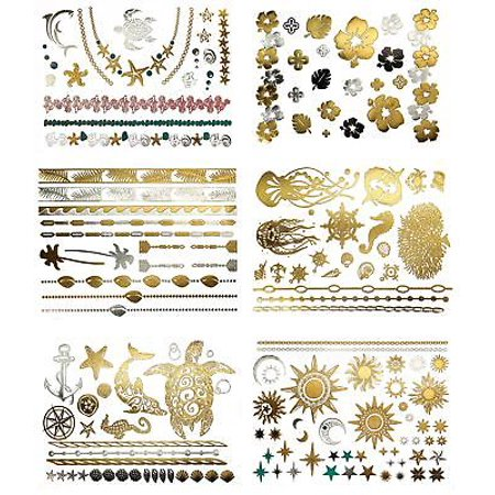 Terra Tattoos Metallic Tattoos - Over 75 Tropical Hawaiian Inspired Temporary...