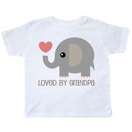 Inktastic Loved By Grandpa Elephant Toddler T Shirt Grandchild Cute Grandson Day
