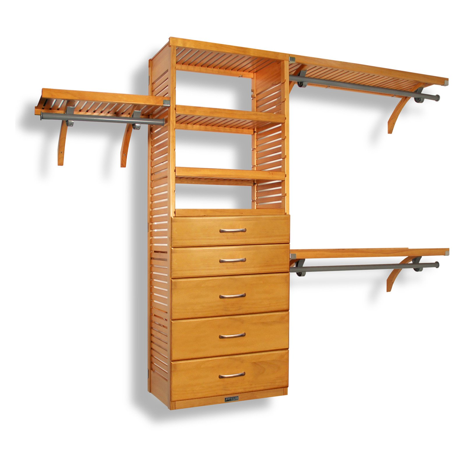Deluxe Closet System Drawer Kit Honey Maple