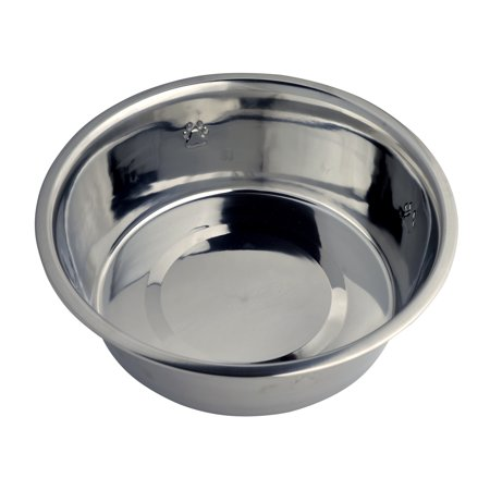 - Vibrant Life Stainless Steel Dog Bowl with Paws, Large