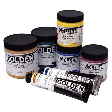 Golden - OPEN Acrylic Color - 8 oz. Jar - Mars Yellow