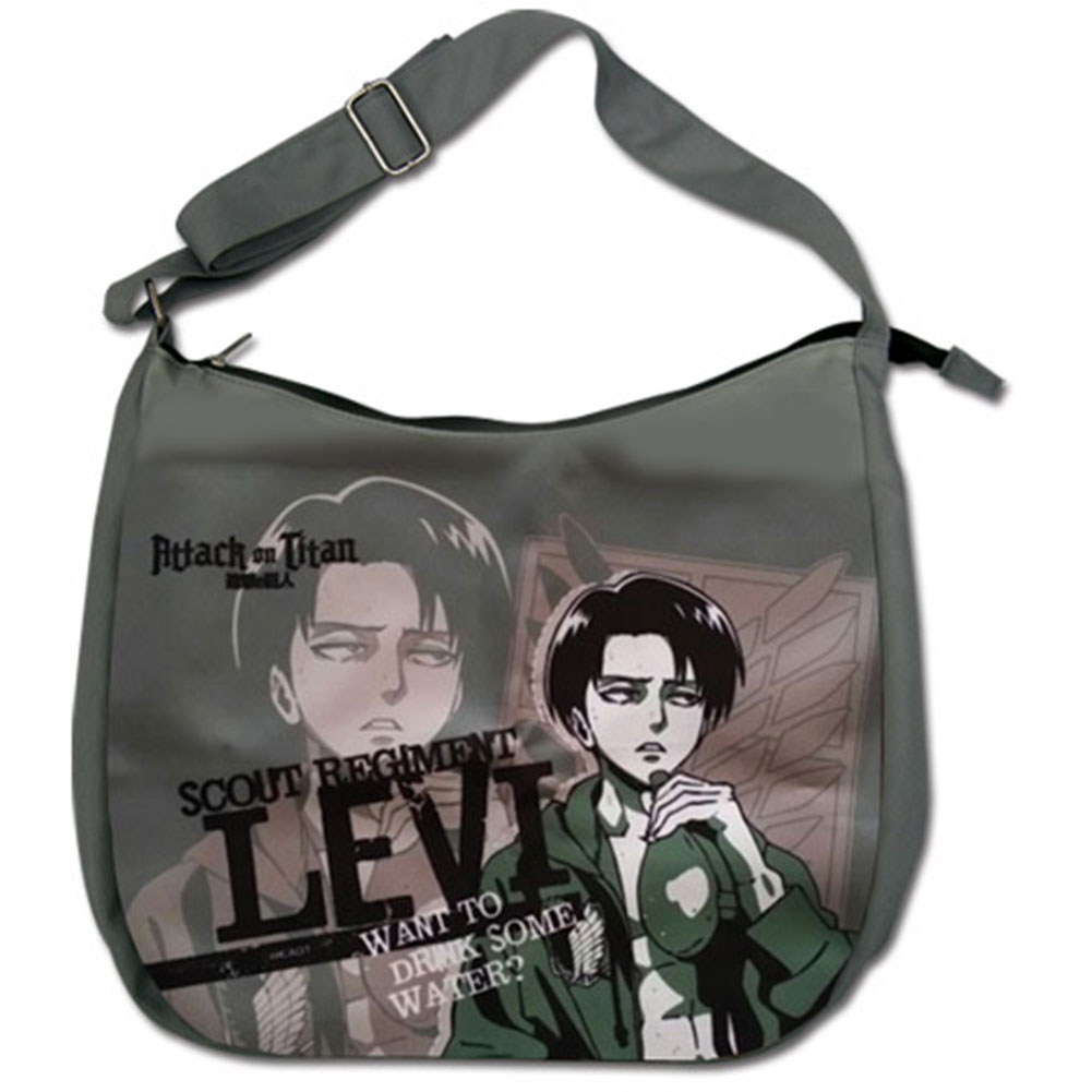 Attack On Titan Levi Drinking Anime Messenger Bag