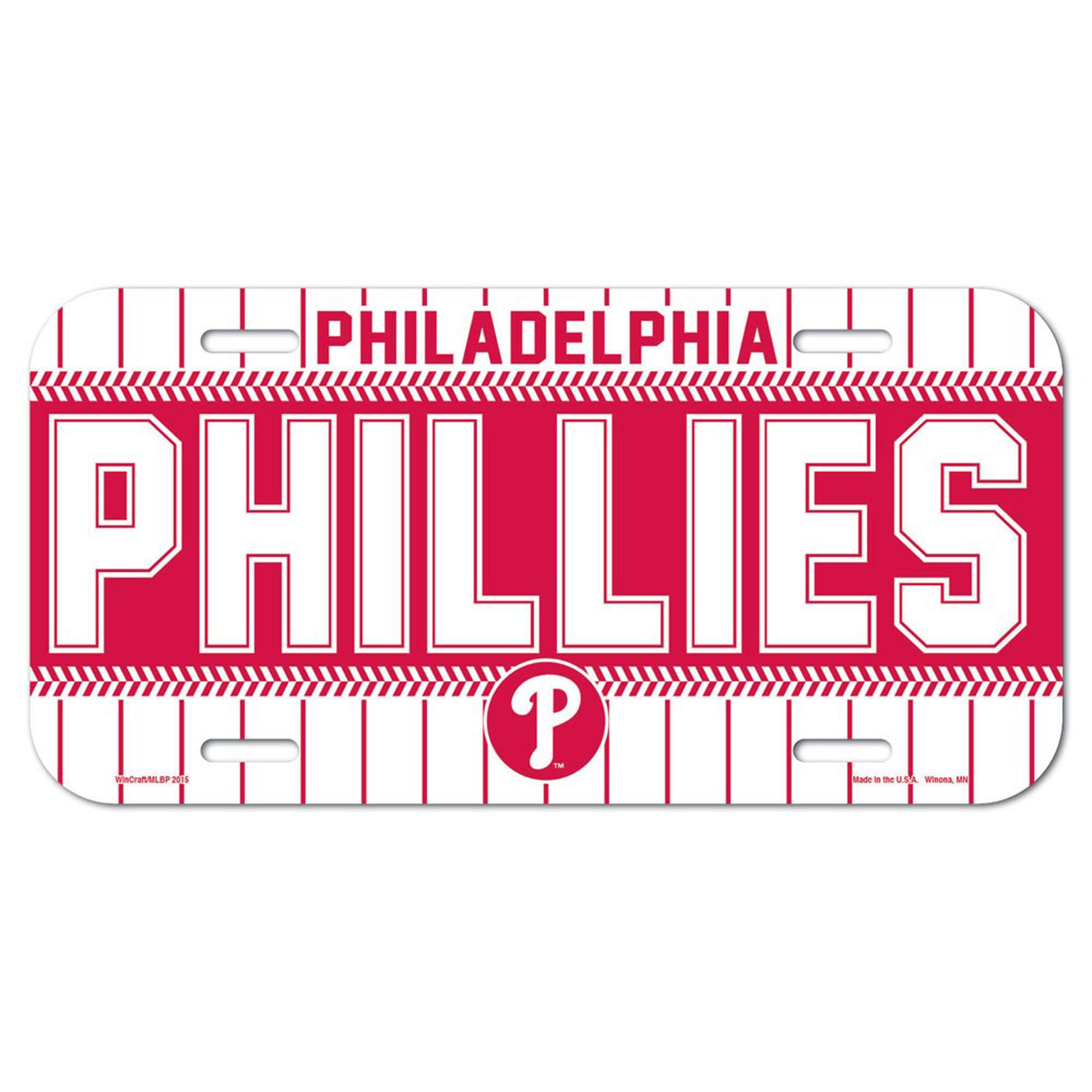 Philadelphia Phillies WinCraft Logo Plastic License Plate - - No Size