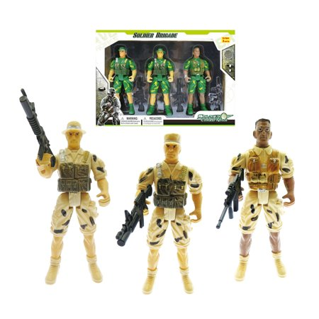 Mozlly Mozlly Plastic Brigade Soldier Combat Force Toys Military Action Mini Figures Army Troopers Accessories SWAT Men Figurines Command Center Pretend Play Toy Ideal Gift Games Play-set 1. Inch - Toy Army Men