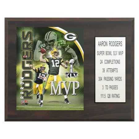 NFL 12 x 15 in. Aaron Rodgers Green Bay Packers Super Bowl MVP Plaque