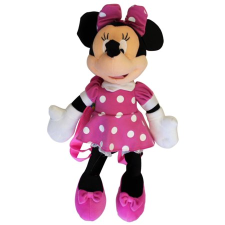 Plush Backpack - Disney - Minnie Mouse 3D Pink Dot - New Doll Toys a00314 for $<!---->