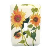 Leviton Sunflowers Painted Metal Light Switch Wallplate Cover 89001-SFL