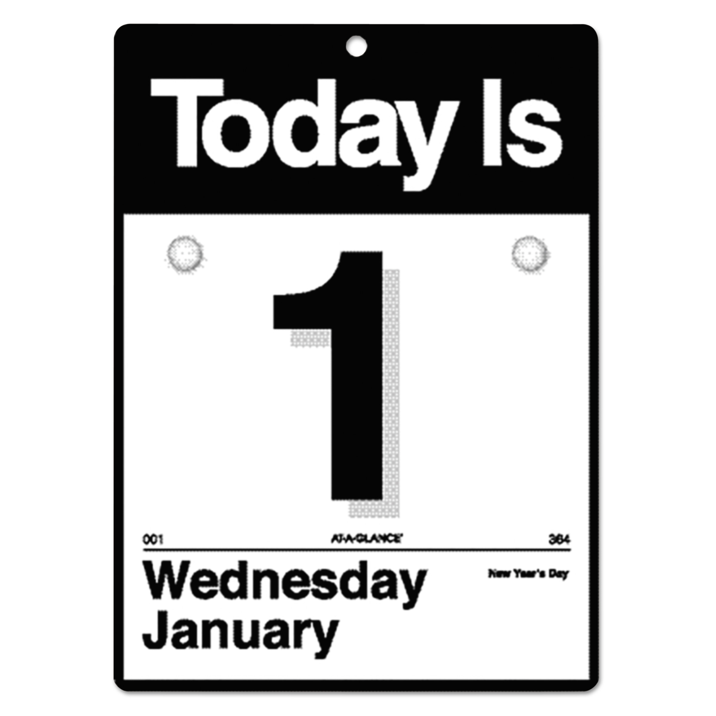 """AT-A-GLANCE """"Today Is"""" Wall Calendar, 6 5/8 x 9 1/8, White, 2018"""
