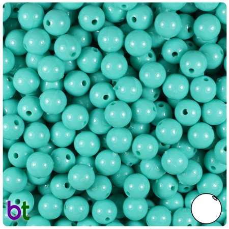8 Mm Turquoise Heart - BeadTin Light Turquoise Opaque 8mm Round Craft Beads (300pcs)