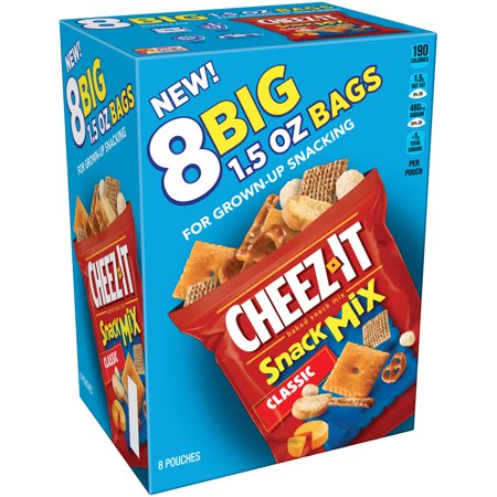 Cheez-It Classic Snack Mix, 1.5 oz, 8 count for $<!---->