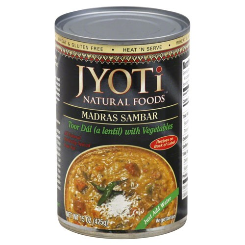 Jyoti Madras Sambar Lentils with Fresh Vegetables 15 oz by Jyoti