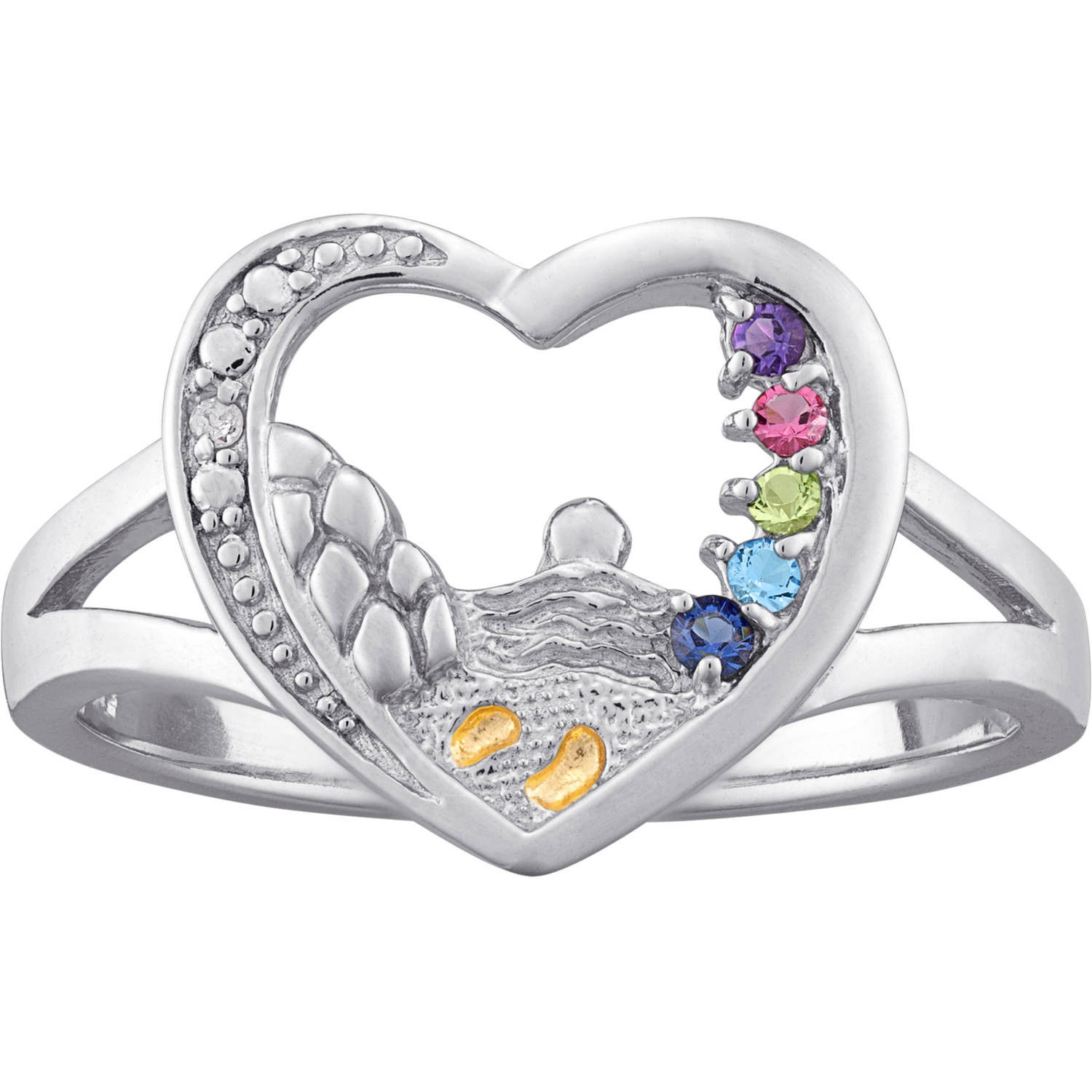 rings footprint ring child collections forever my baby band gold