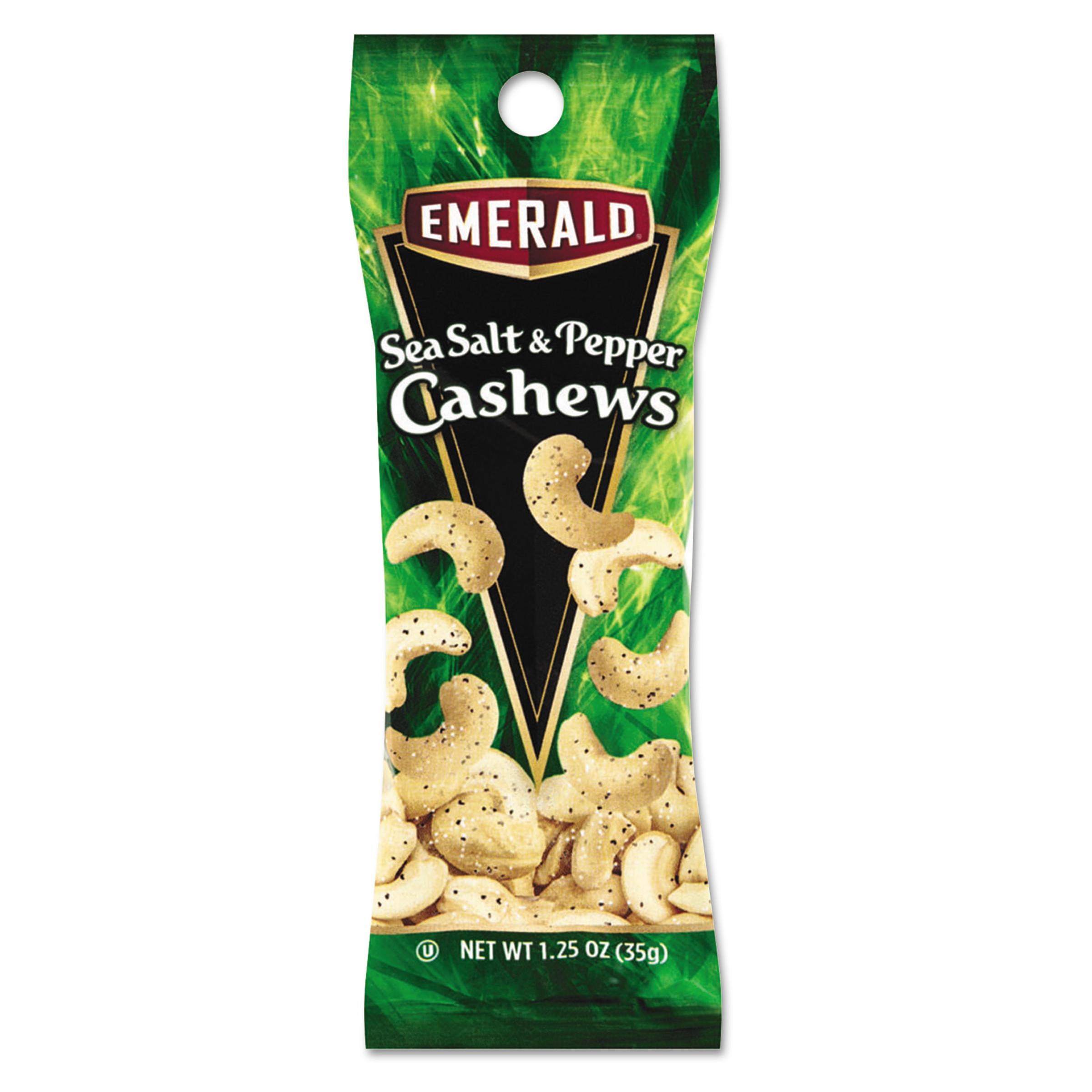 Emerald Sea Salt & Pepper Cashews, 1.25 Oz., 12 Count
