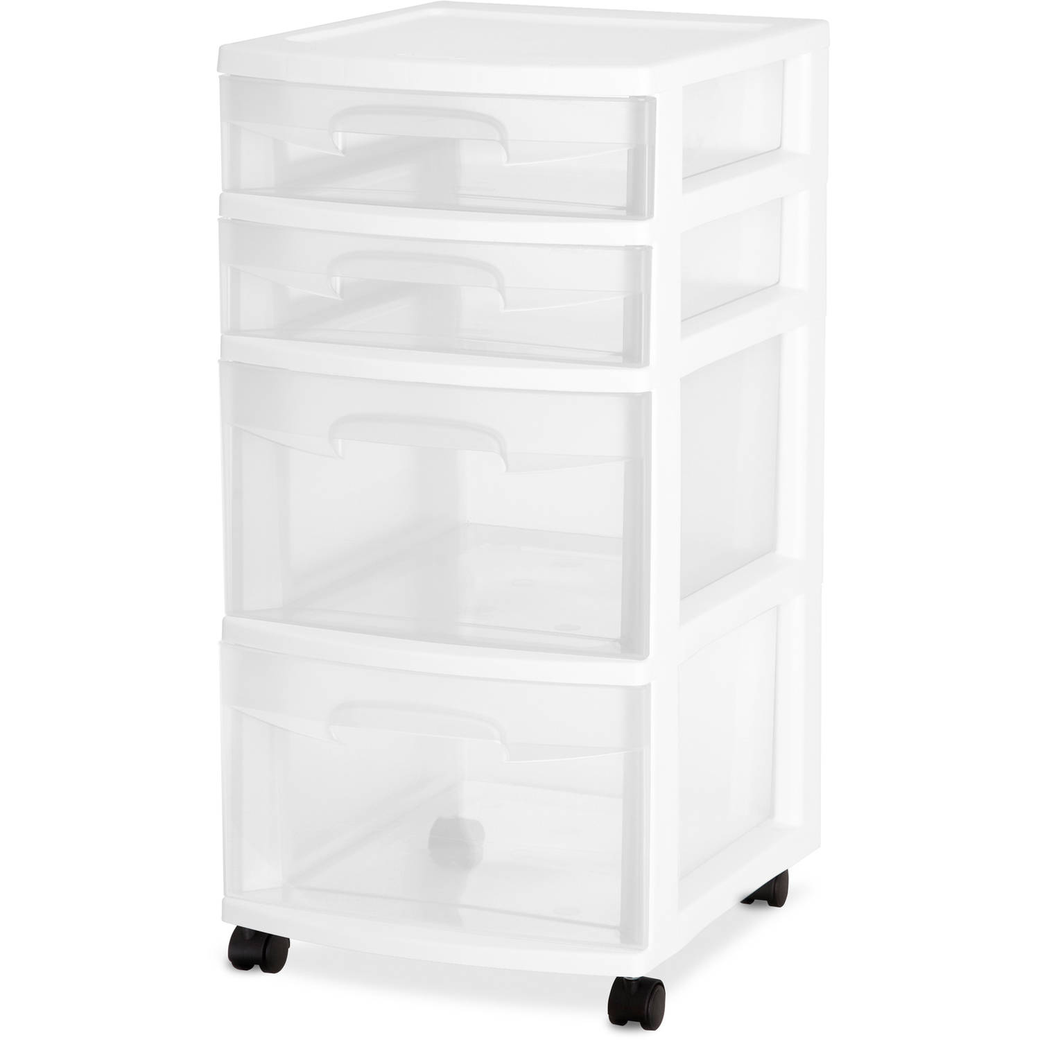 sterilite 4 drawer cabinet sterilite 4 drawer cart white of 2 walmart 26796