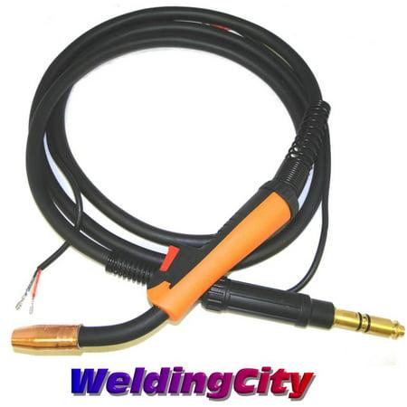 WeldingCity 100Amp 10-ft MIG Welding Gun Torch Stinger Replacement for Lincoln Magnum 100L (Lincoln Magnum 100l Mig Gun Parts Breakdown)