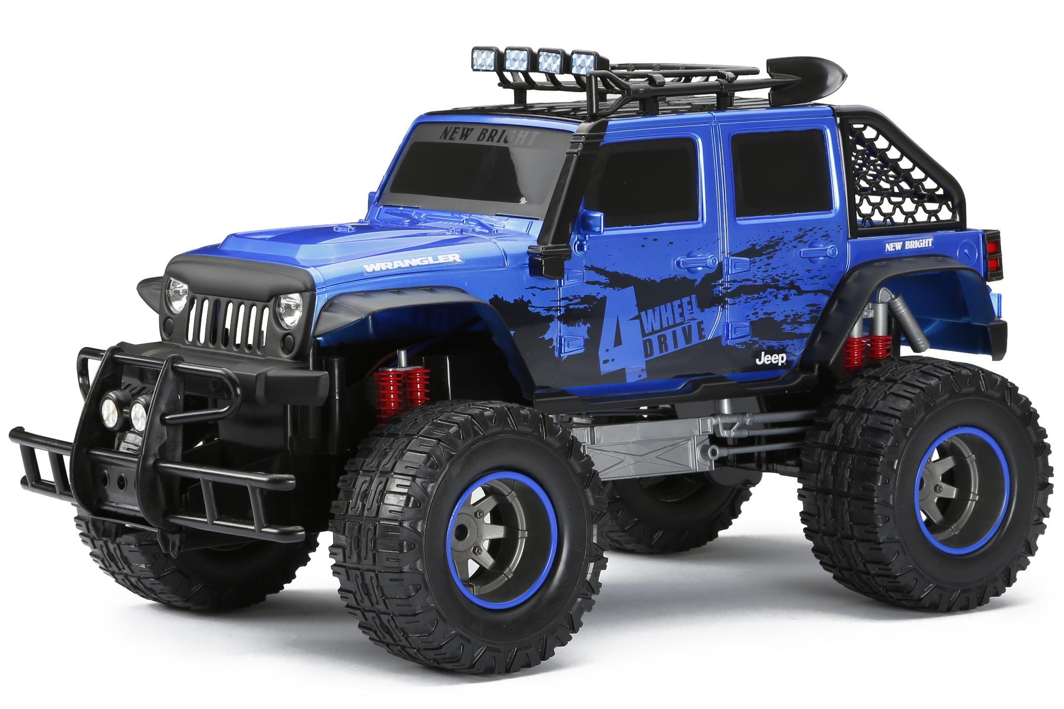 New Bright 1:12 Radio Control 4x4 4-door Jeep Blue by New Bright