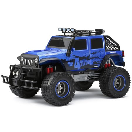 New Bright 1:12 Scale Radio Control 4x4 4-door Jeep - Blue