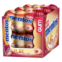 Mentos Pure Fresh Sugar-Free Chewing Gum with Xylitol, Cinnamon, 50 Piece Bottle (Pack of 6)