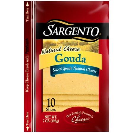 Sargento Gouda Sliced Natural Cheese, 10 count, 7 oz